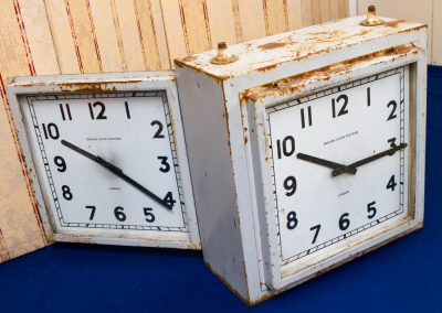 Double-sided Factory Clock